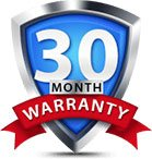 30 Months Warranty Badge