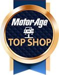 MotorAge Top Shop Award Badge